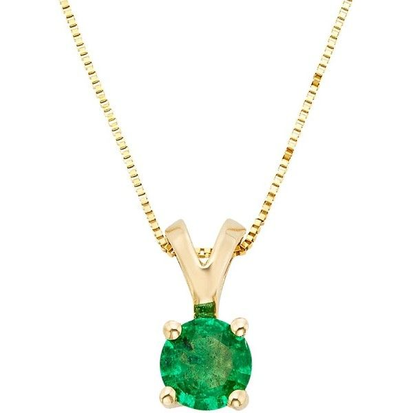 The regal collection emerald 14k gold pendant necklace 5220 mxn the regal collection emerald 14k gold pendant necklace 5220 mxn liked on polyvore aloadofball Image collections