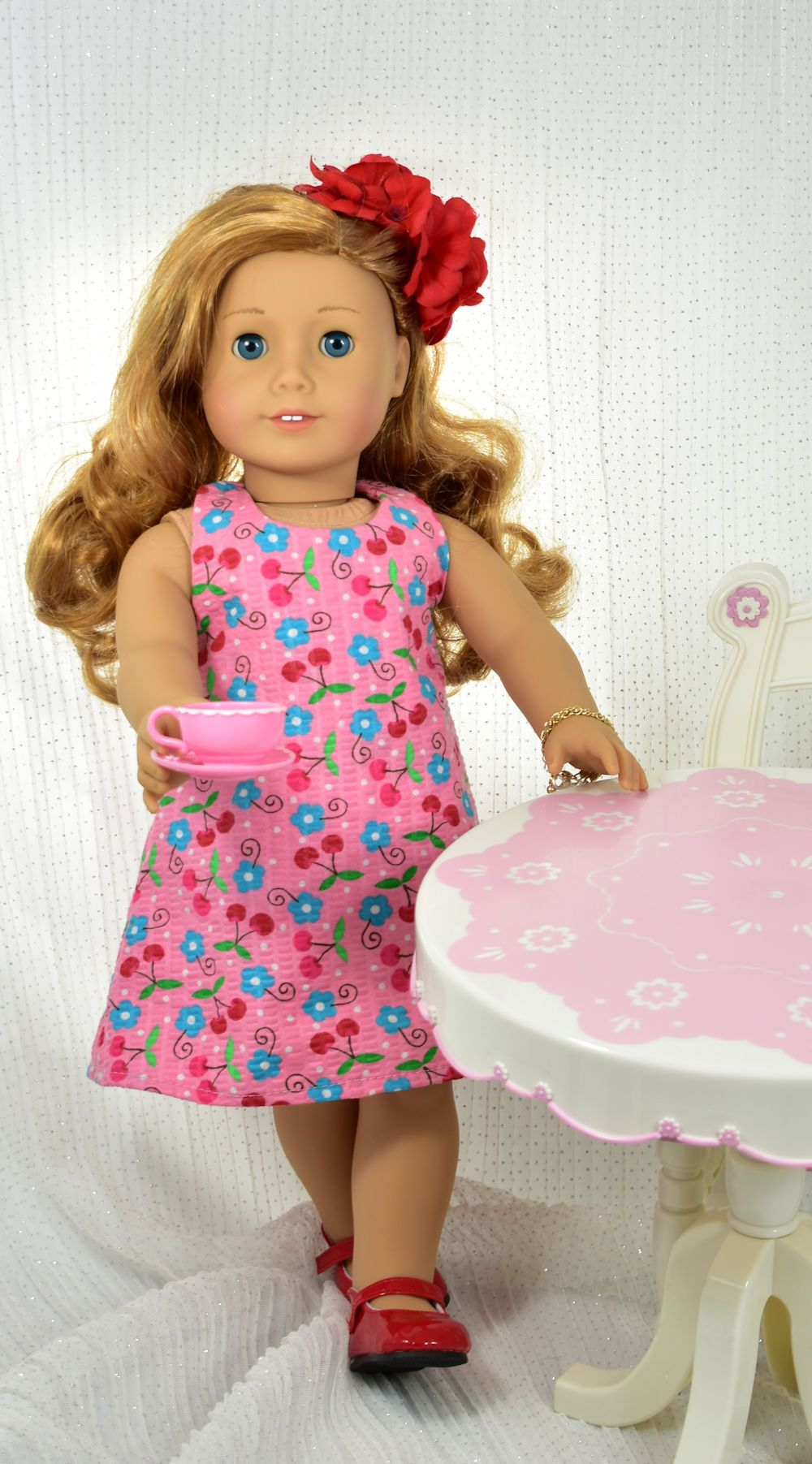 18 inch doll dress pattern, Tea Party, for dolls such as American ...