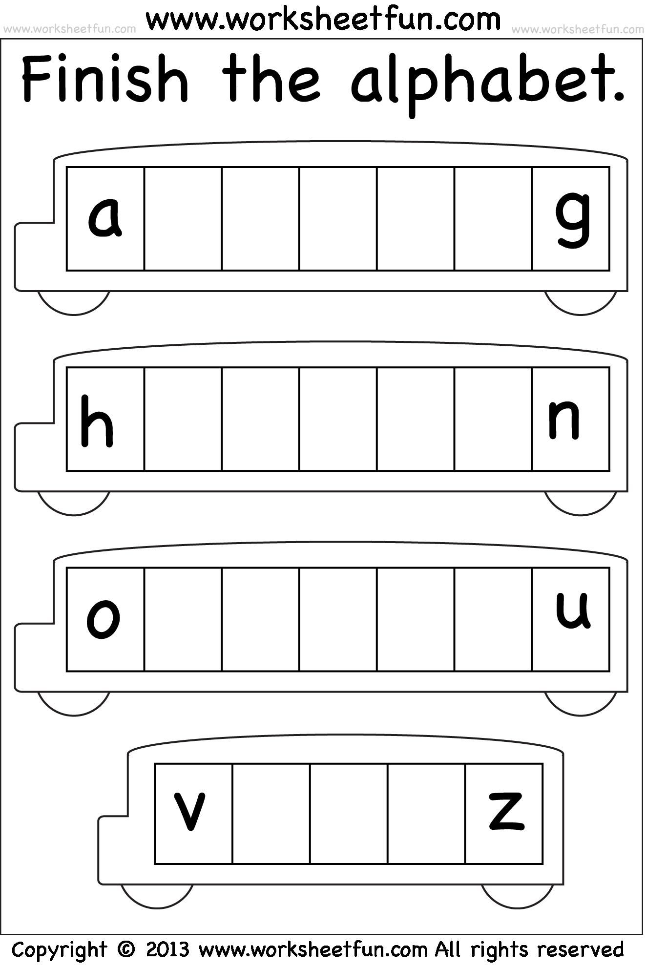 Awesome Missing Alphabets Worksheets Printable That You