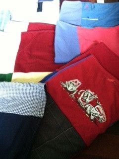 Repat Remembrances, a blanket made to honor and hold close the memory of a much loved father who passed away last winter. A real story from a Project Repat t-shirt quilt customer