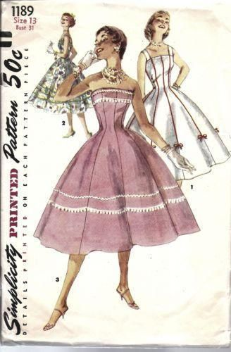 sewing patterns from the 1950s | 1950\'S Sewing Patterns | eBay ...