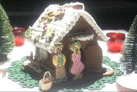 レシピ:クリスマススペシャル~グリム童話のお菓子の家~よりレープクーヘンのお菓子の家 | グレーテルのかまど