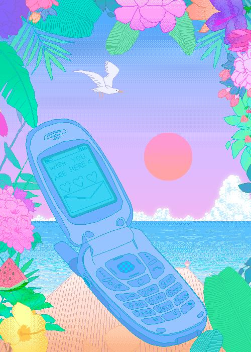 2000s Flip Phone Pastel Art Pixel Art Pastel Art