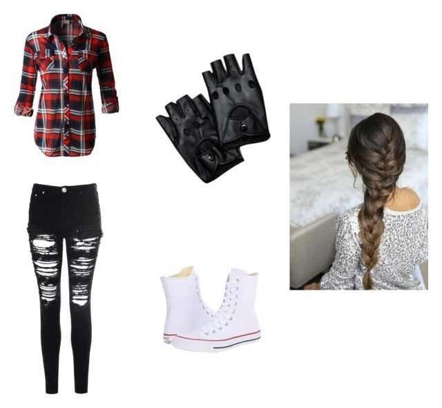 """""""Rebels in disguise"""" by falloutboyfan101 on Polyvore featuring LE3NO, Glamorous and Converse"""