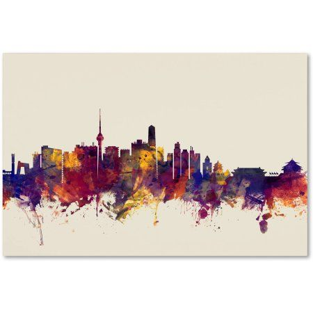 trademark fine art beijing china skyline canvas art by michael ...