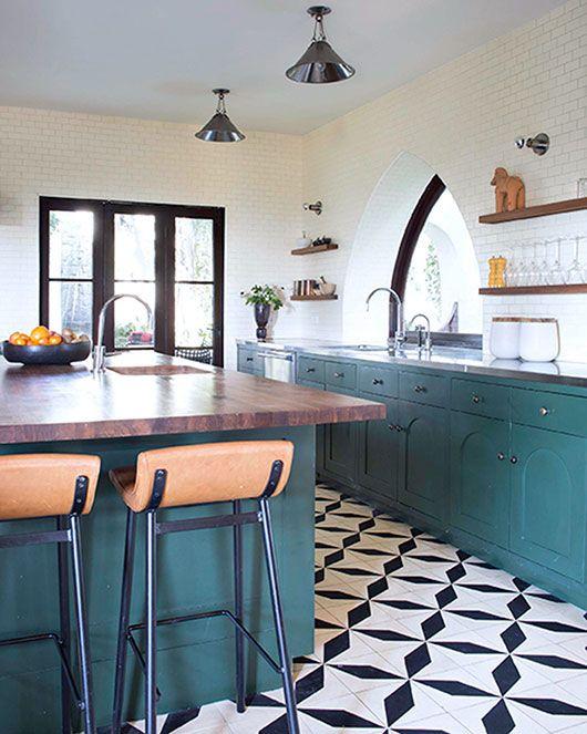 Modern Black And White Tile Kitchen Floor Tile Patterns White Tile Kitchen Floor Patterned Floor Tiles