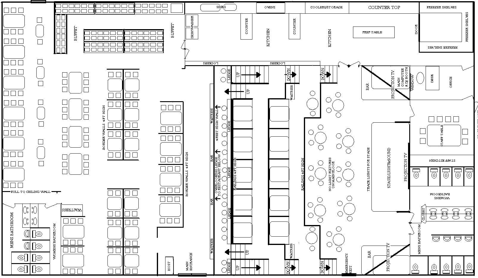 Restaurant Kitchen Plans Design Restaurant layout
