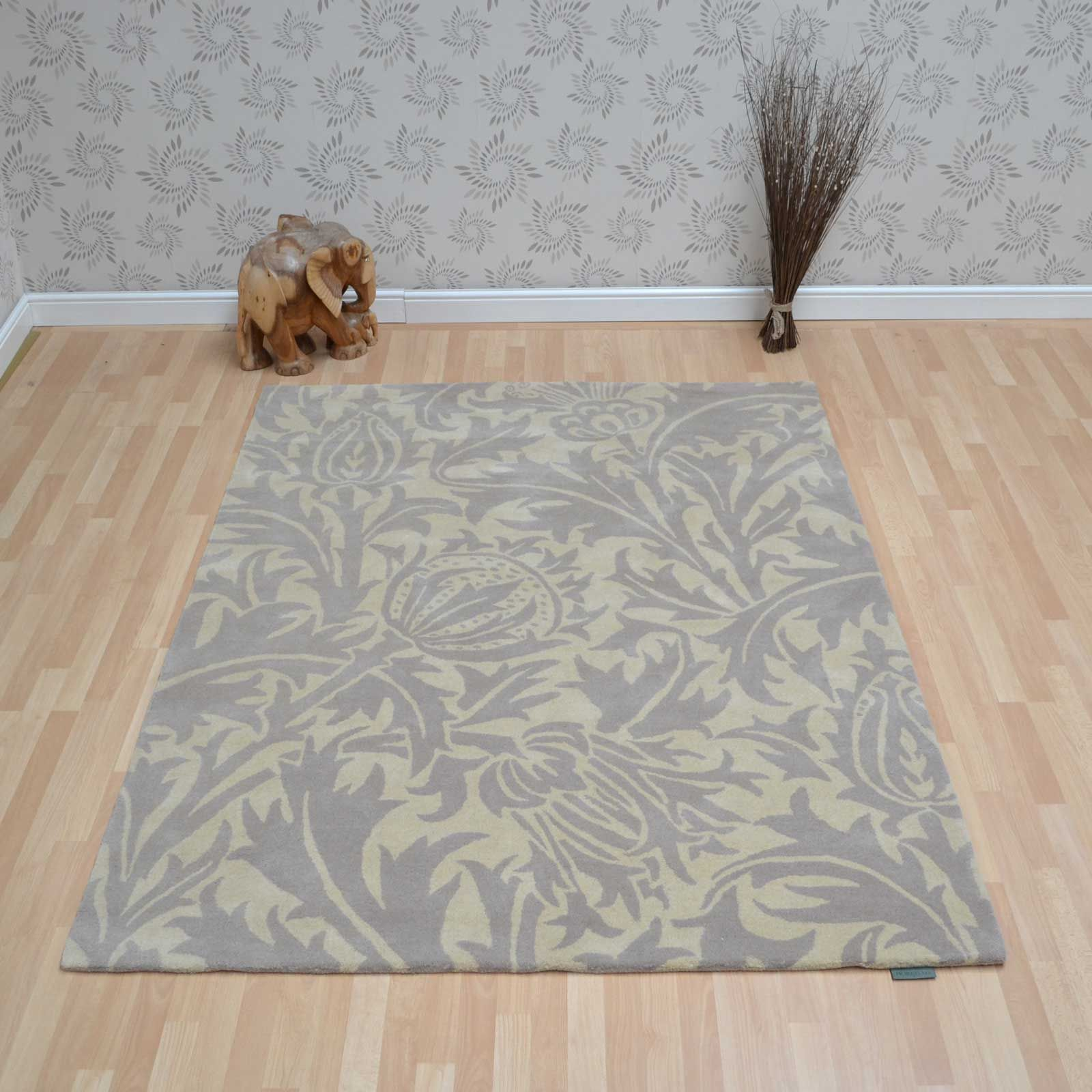 Thistle Rugs 27301 Linen by Morris and Co Rugs, Kids