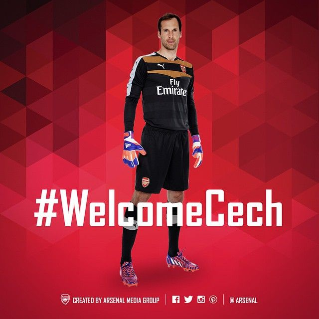 It's official - Petr #Cech is an #Arsenal player! .. #WelcomeCech
