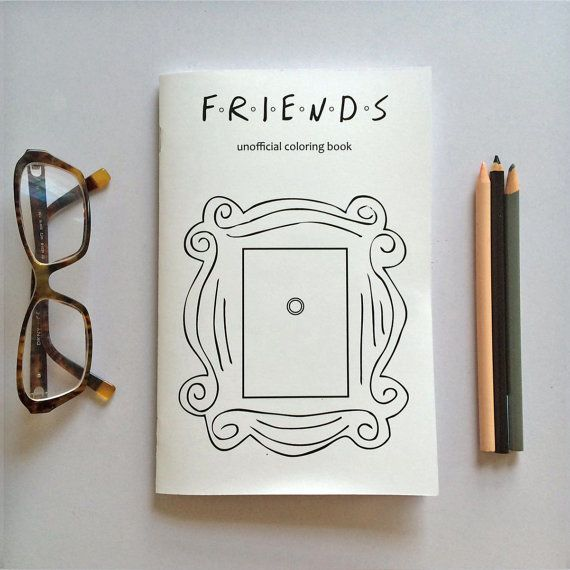 Nostalgic Tv Coloring Books Drawings Of Friends Friends Sketch Coloring Books