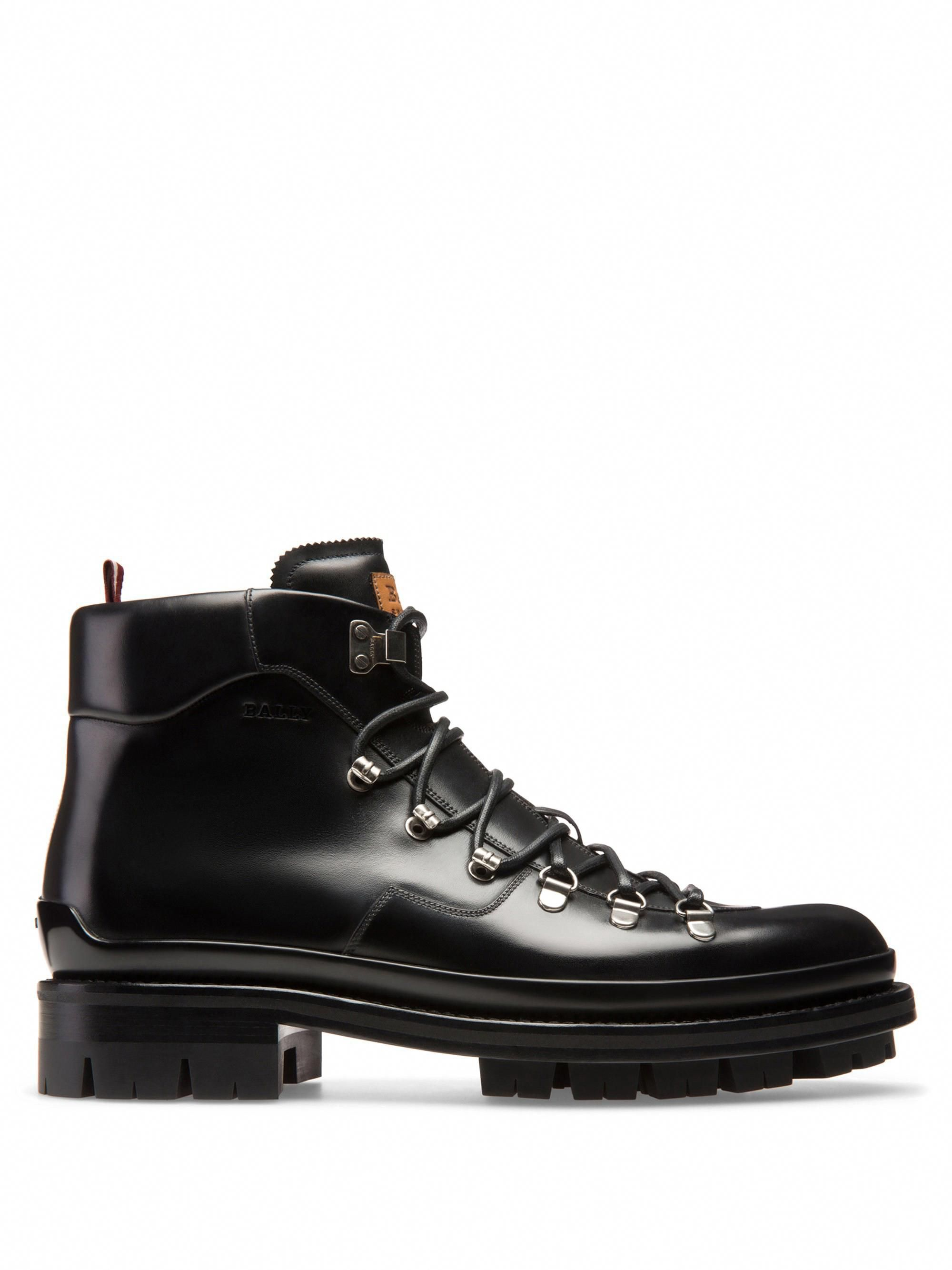 f93a75a07b3 Bally Medison Leather Hiking Boots - Black 8 D #hikeboots | Hiking ...