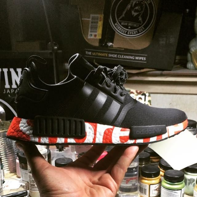 Adidas Nmd X Supreme Custom Fashion Adidas Nmd R1 Pink Sneakers