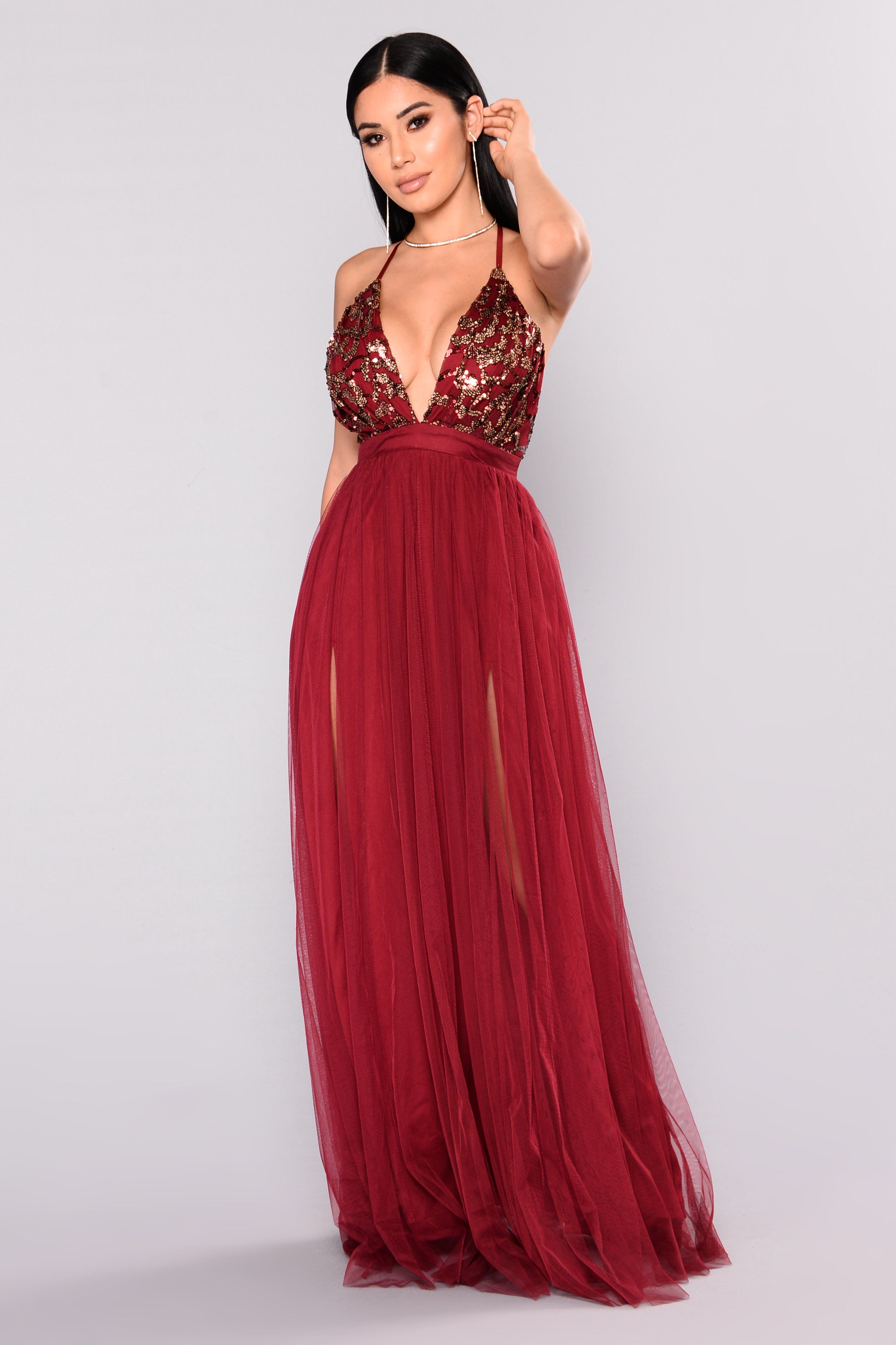 76f63f99a7 Twinkle In Your Eyes Maxi Dress - Burgundy in 2019