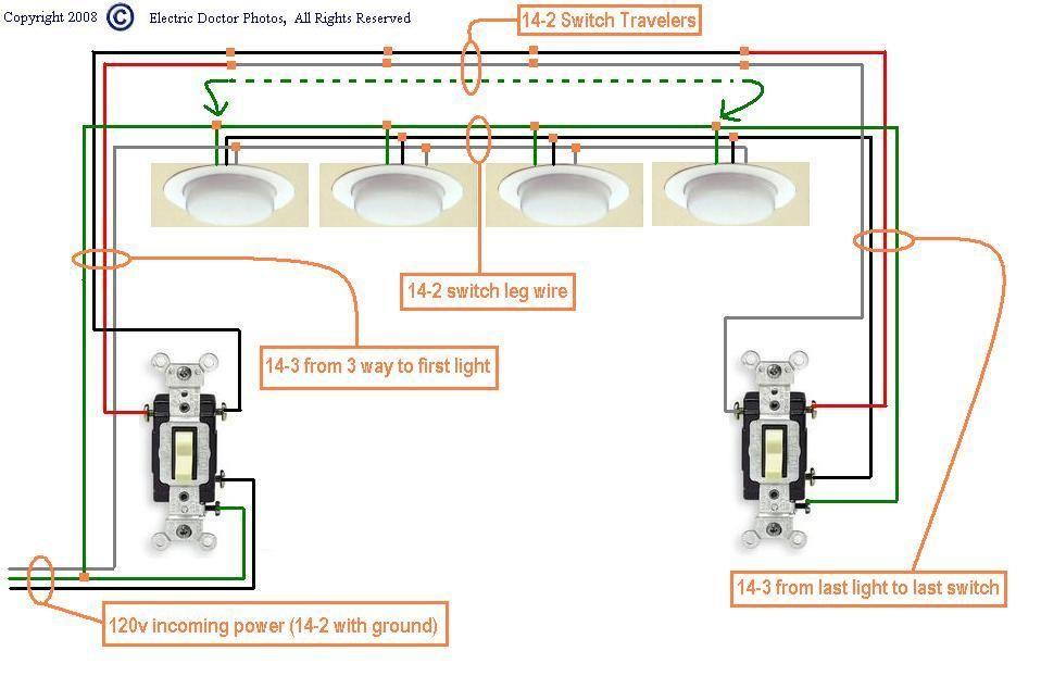 Wiring Multiple Recessed Lights 3 Way Switch   www.lightneasy.net