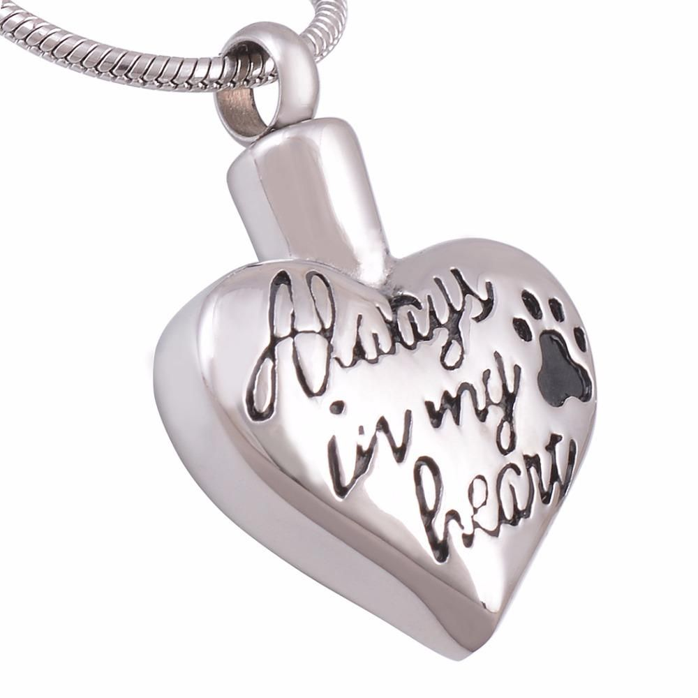 Pet Cremation Necklace Engraved Stainless Steel Jewelry Dog