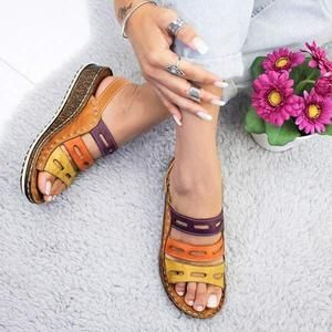 Photo of Women Chic Three-color stitching Sandals