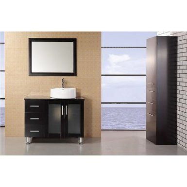 Design Element Dec066b W Malibu 39 Inch Single Sink Vanity Set In