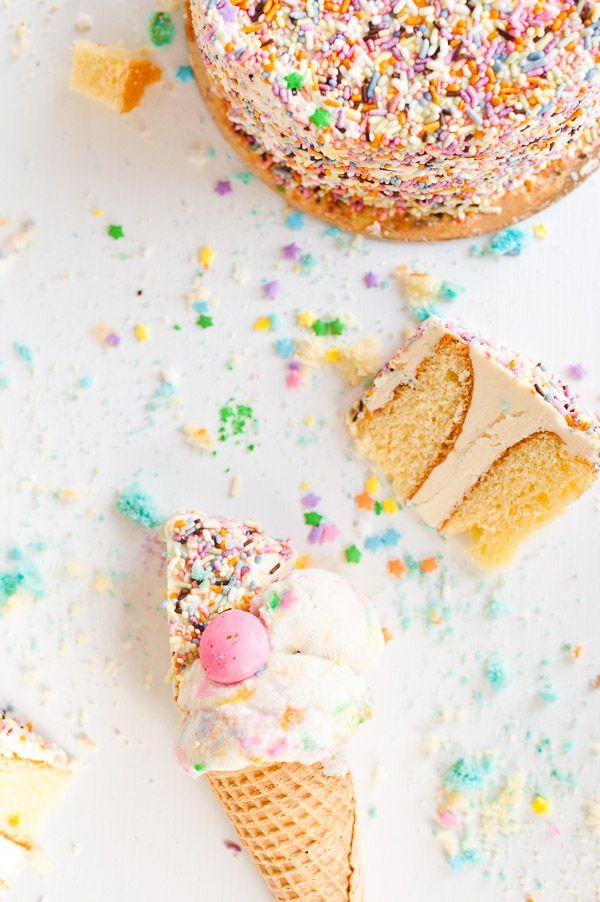Eat More Cake Ice Cream A Birthday Cake Ice Cream Recipe