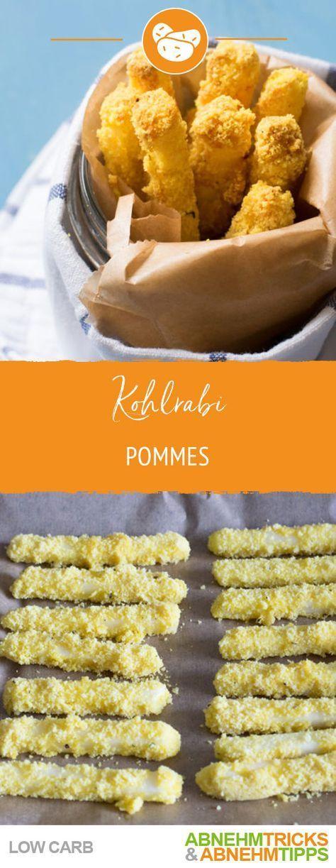 Low Carb Kohlrabi Pommes - WIRKLICH knusprig (!) & würzig - Low carb ‼️ - #carb #knusprig #Kohlrabi...
