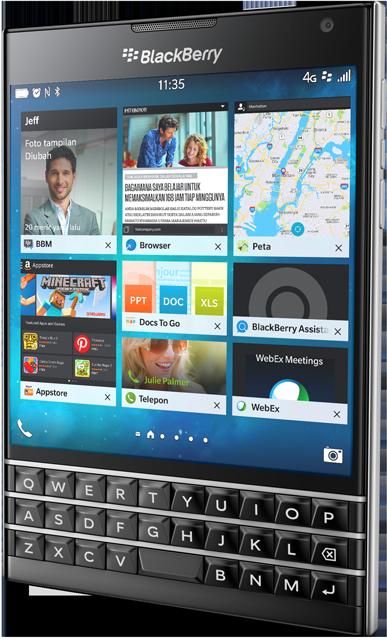BlackBerry Passport – Touch screen, touch smartphone