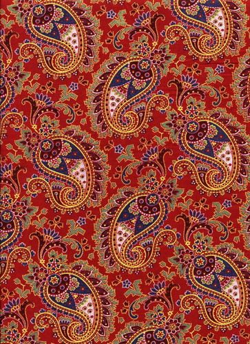 Red Russian Paisley