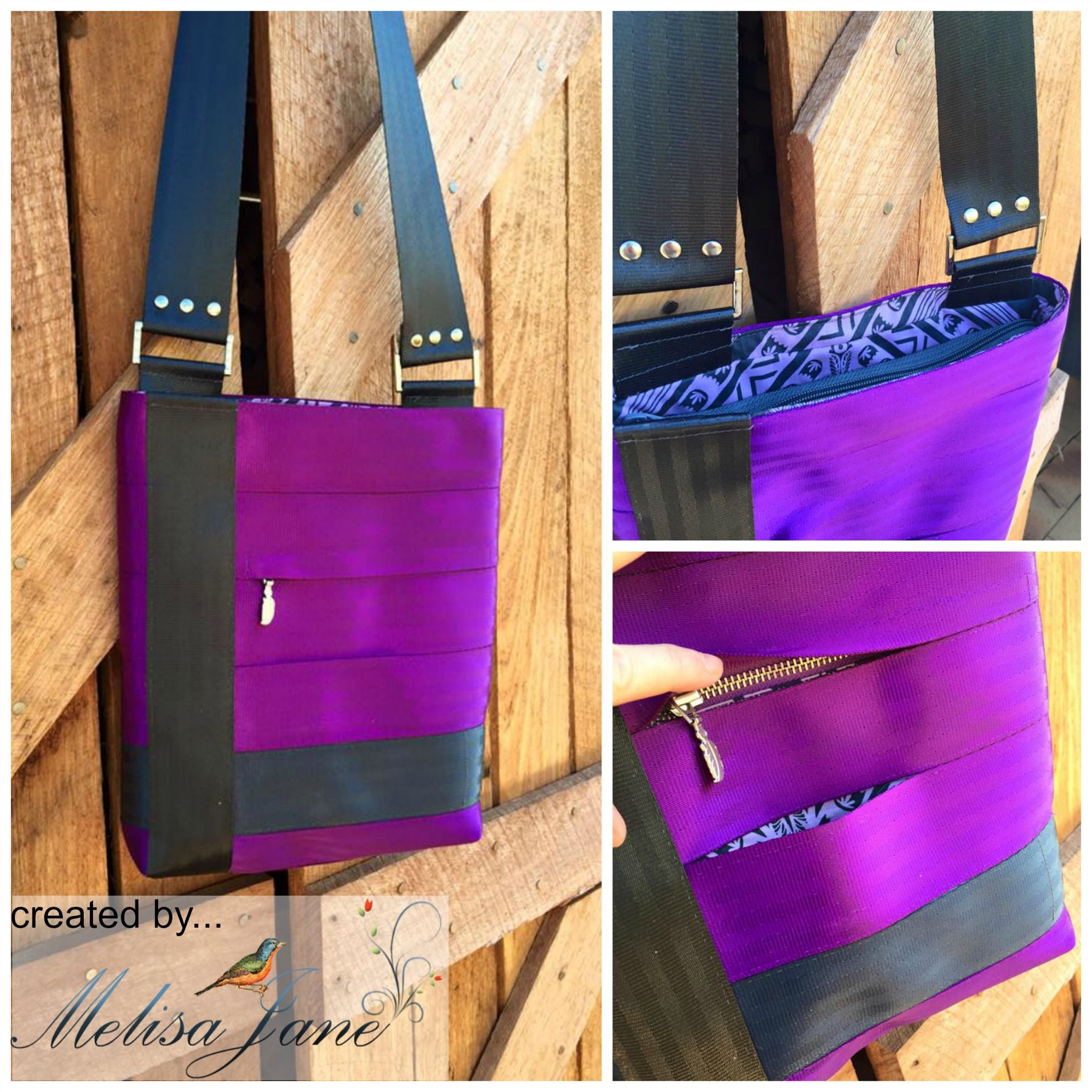 Designer Seat Belt Series: The Crossover Bag Pattern + Kits | Nähen