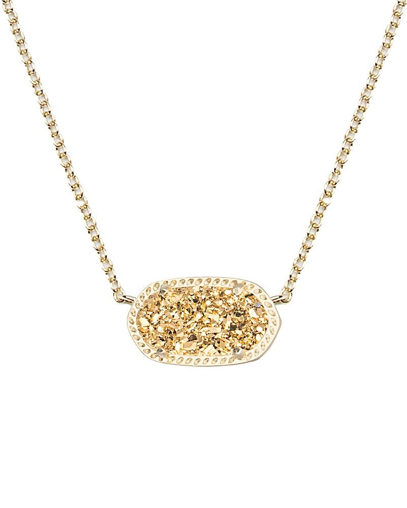 Also really like this one elisa pendant necklace in gold drusy