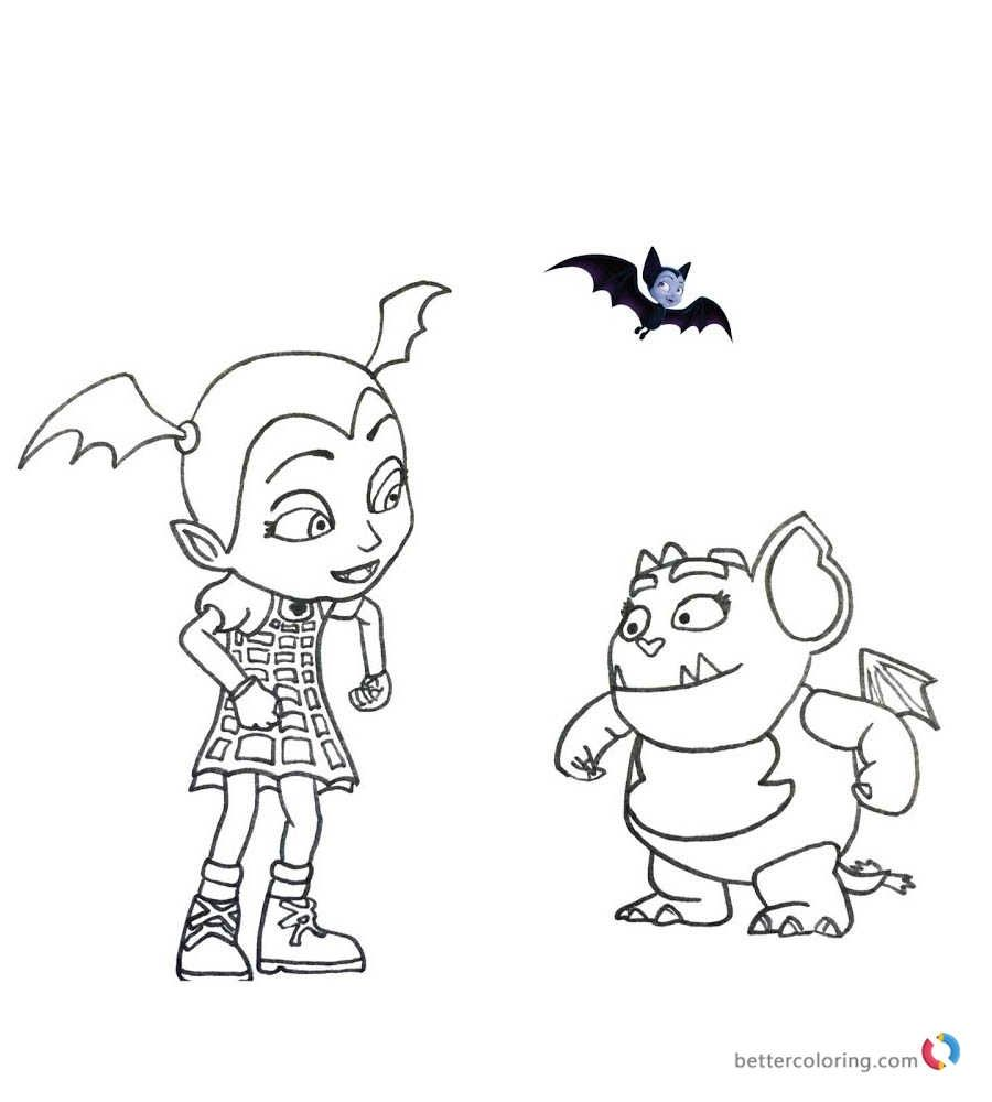 Image result for vampirina coloring page  Coloring pages, Color