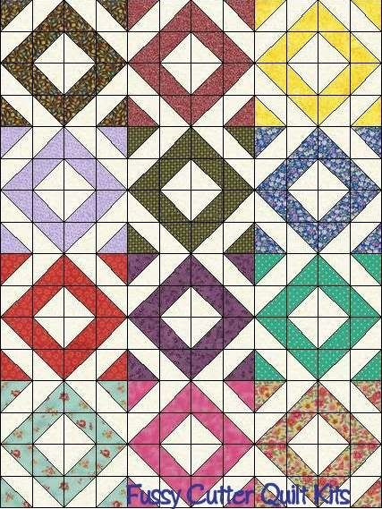 scrappy quilt patterns | Scrappy Calico Blenders Floral Fabric ... : quilts n calicoes - Adamdwight.com