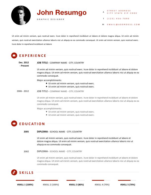 Iason Simple Yet Modern Resume Template Resumgo Com Modern Resume Template Resume Template Modern Resume