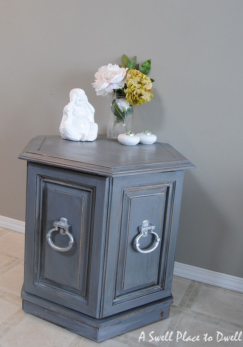 Hexagon End Tables Makeover -- Paint - Benjamin Moore ...