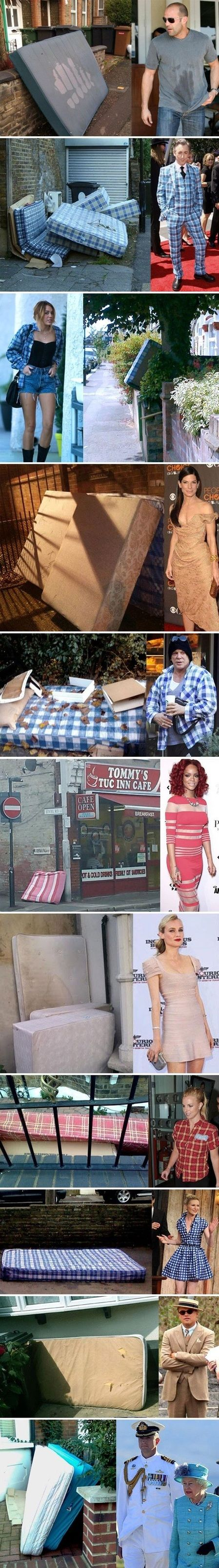 celebs with clothes like mattresses