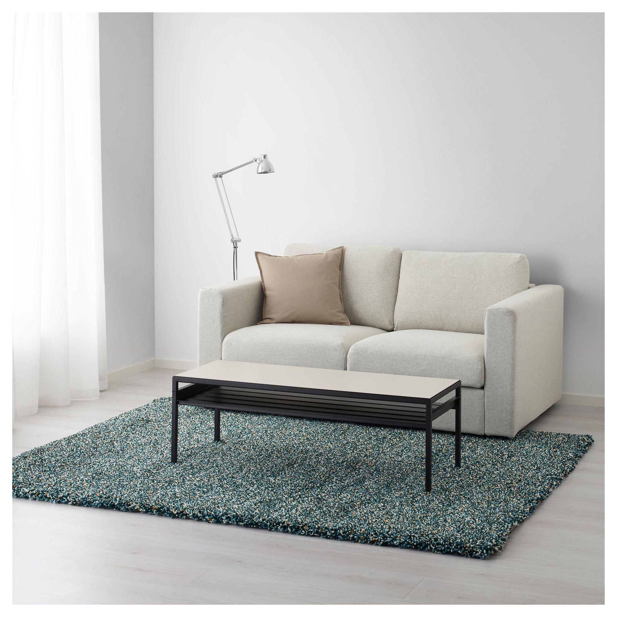 IKEA VINDUM Blue BlueGreen Rug, high pile Grey carpet