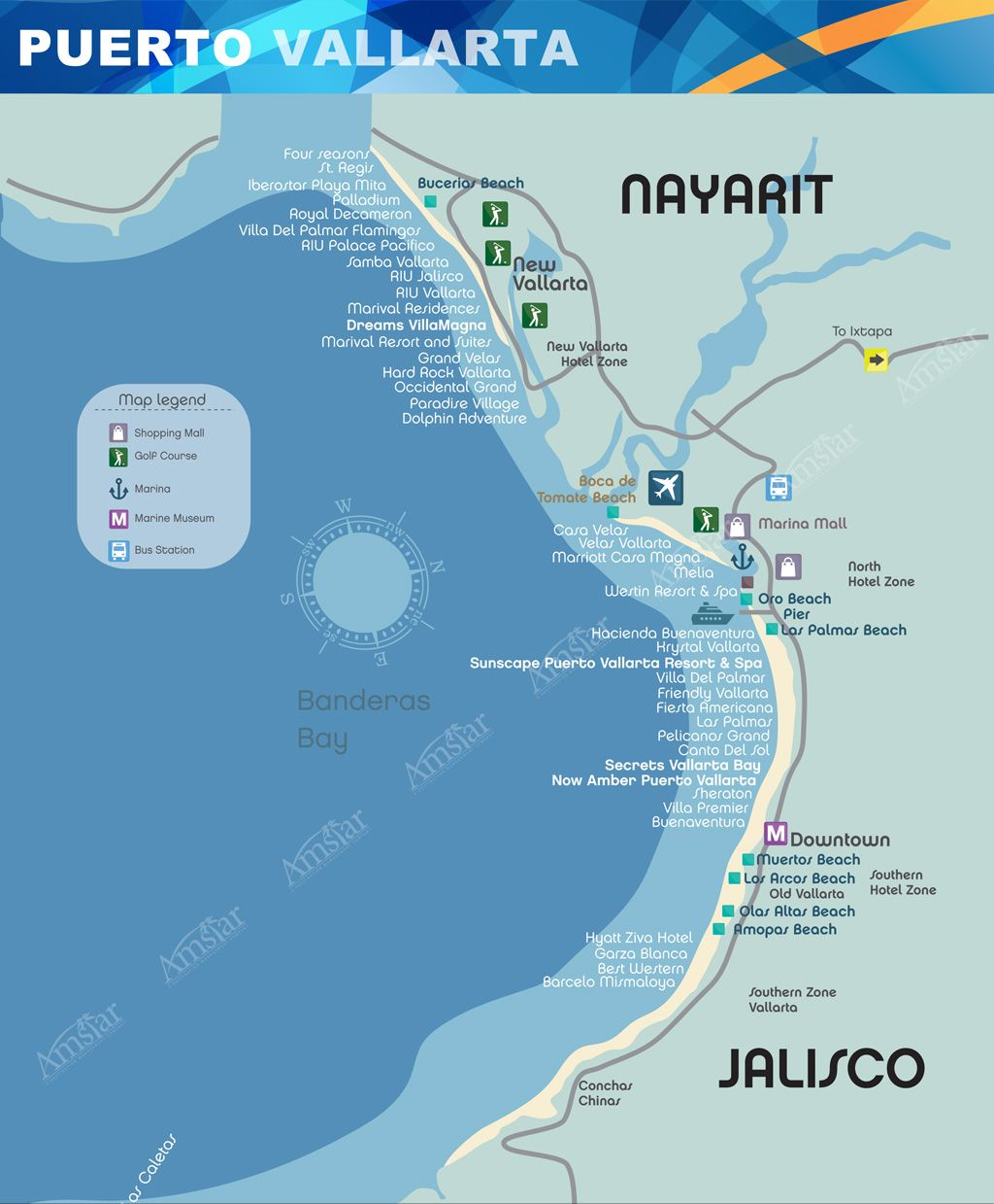 Puerto Vallarta Map Things To Do In Vallarta Puerto Vallarta
