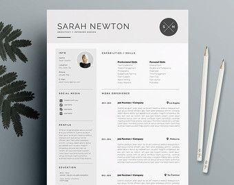 resume template 4 page cv template cover от theresumeboutique