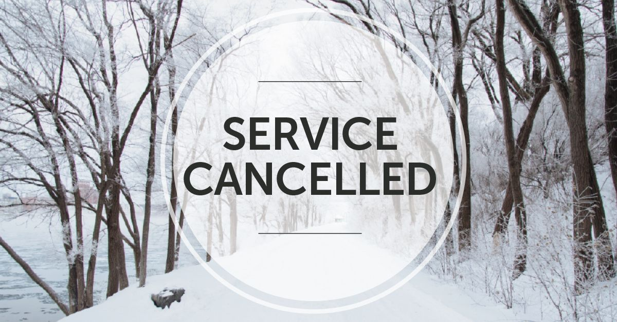 Due to the dangerous conditions, service at Engage Church