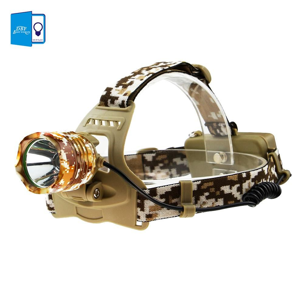 Dbf Cree Xml T6 1000 Lumens Led Headlamp Rechargeable Headlight