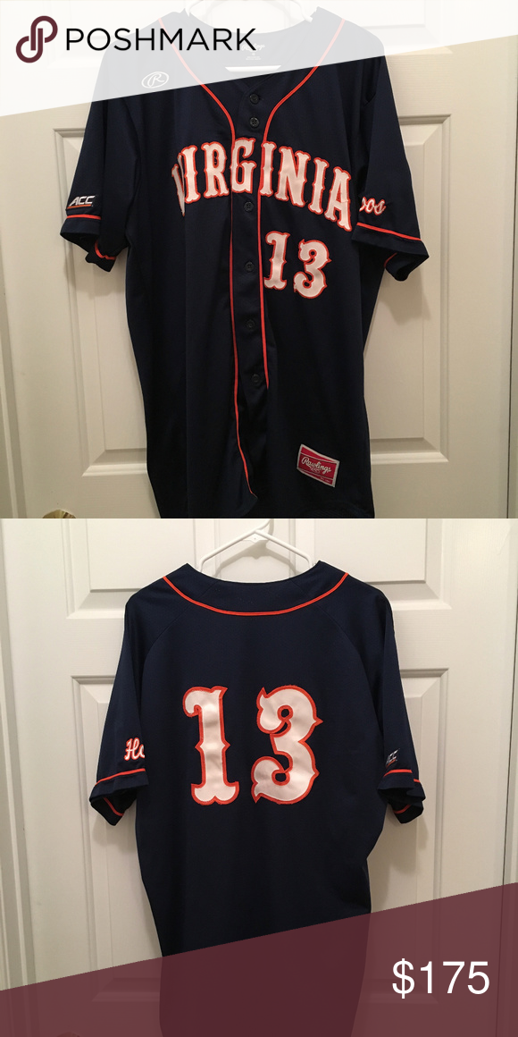 52f3c182fe535 Virginia UVA Cavaliers  13 Baseball Jersey Size 46 Description  University  of Virginia Cavaliers