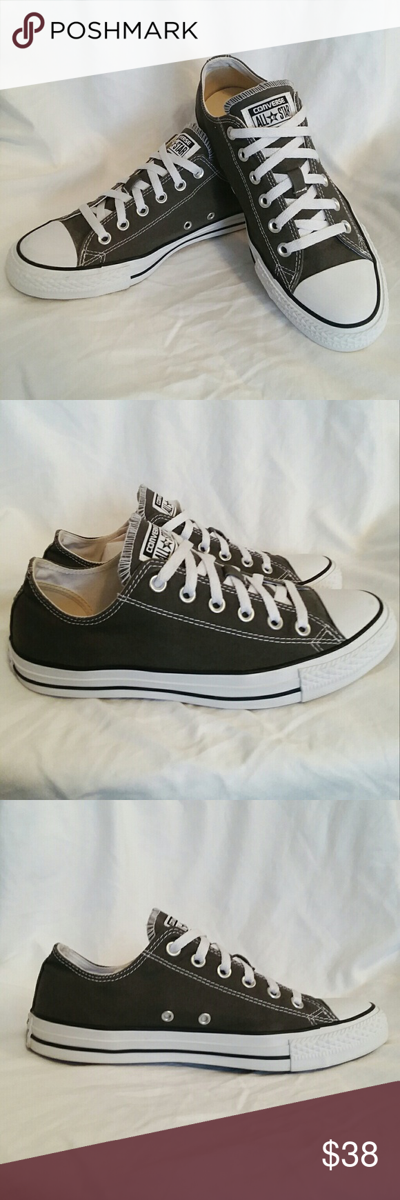 666a97c92efb Grey Converse Chuck Taylor ALL☆Star Shoes EXCELLENT USED CONDITION Custom  Made  Converse Chuck
