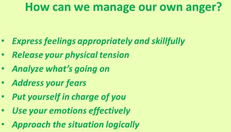 Anger is one of the hardest things to deal with when we are having conflicts with other workers on the job.