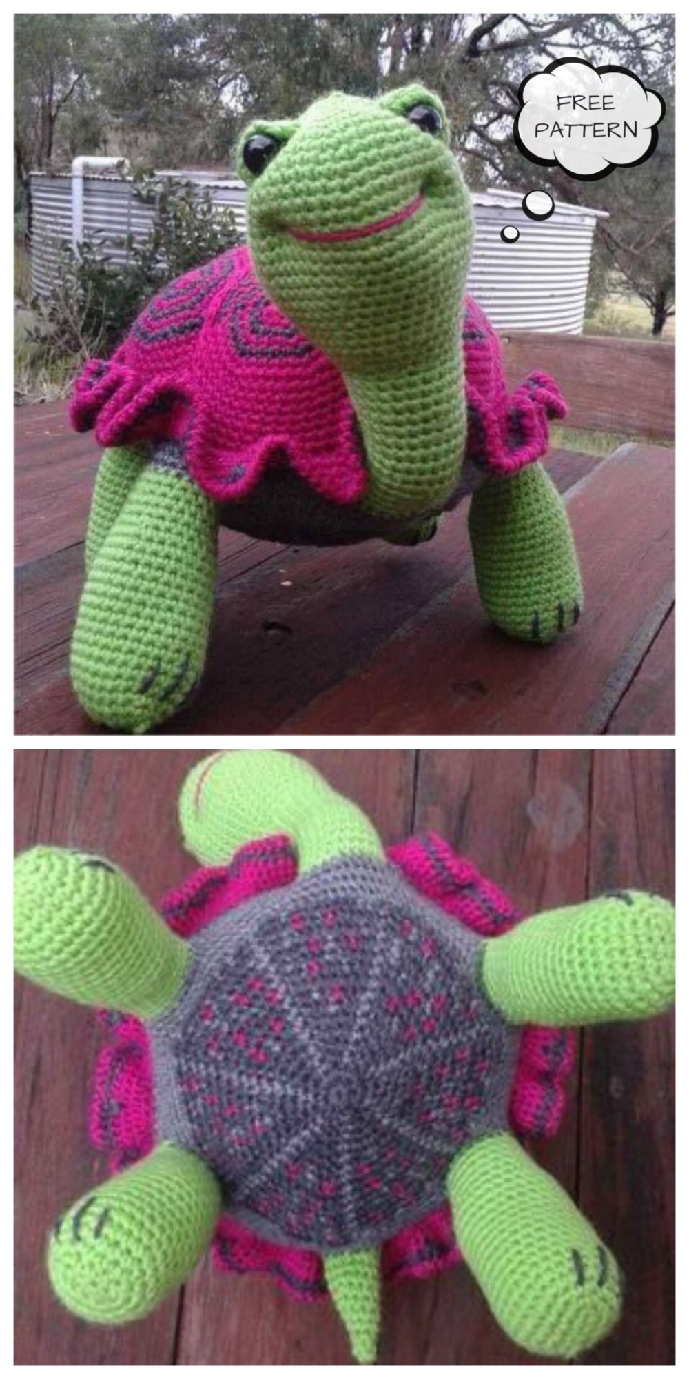 Crochet Toy Tortoise Amigurumi Free Patterns - DIY Magazine