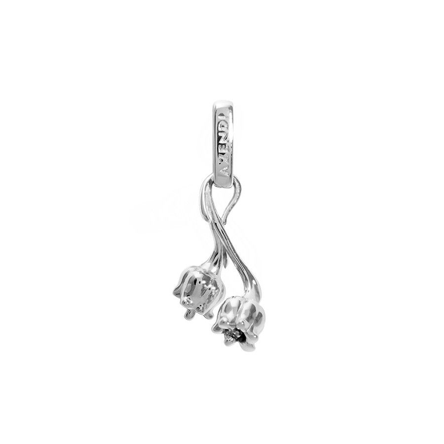 Silver lily of the valley charm victorian silver lily of the valley charm birth flowerslanguage izmirmasajfo