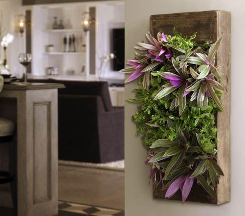 This GroVert Living Wall Planter Kit Creates An Instant U0026 Stunning Living  Piece Of Art!