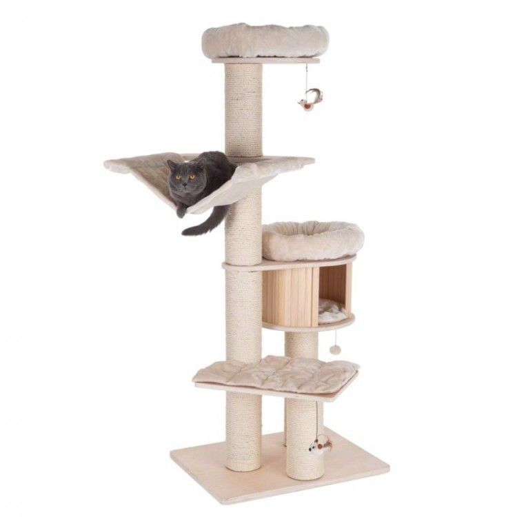 Details about Cat Trees Scratching Post Large Pet Bed Den