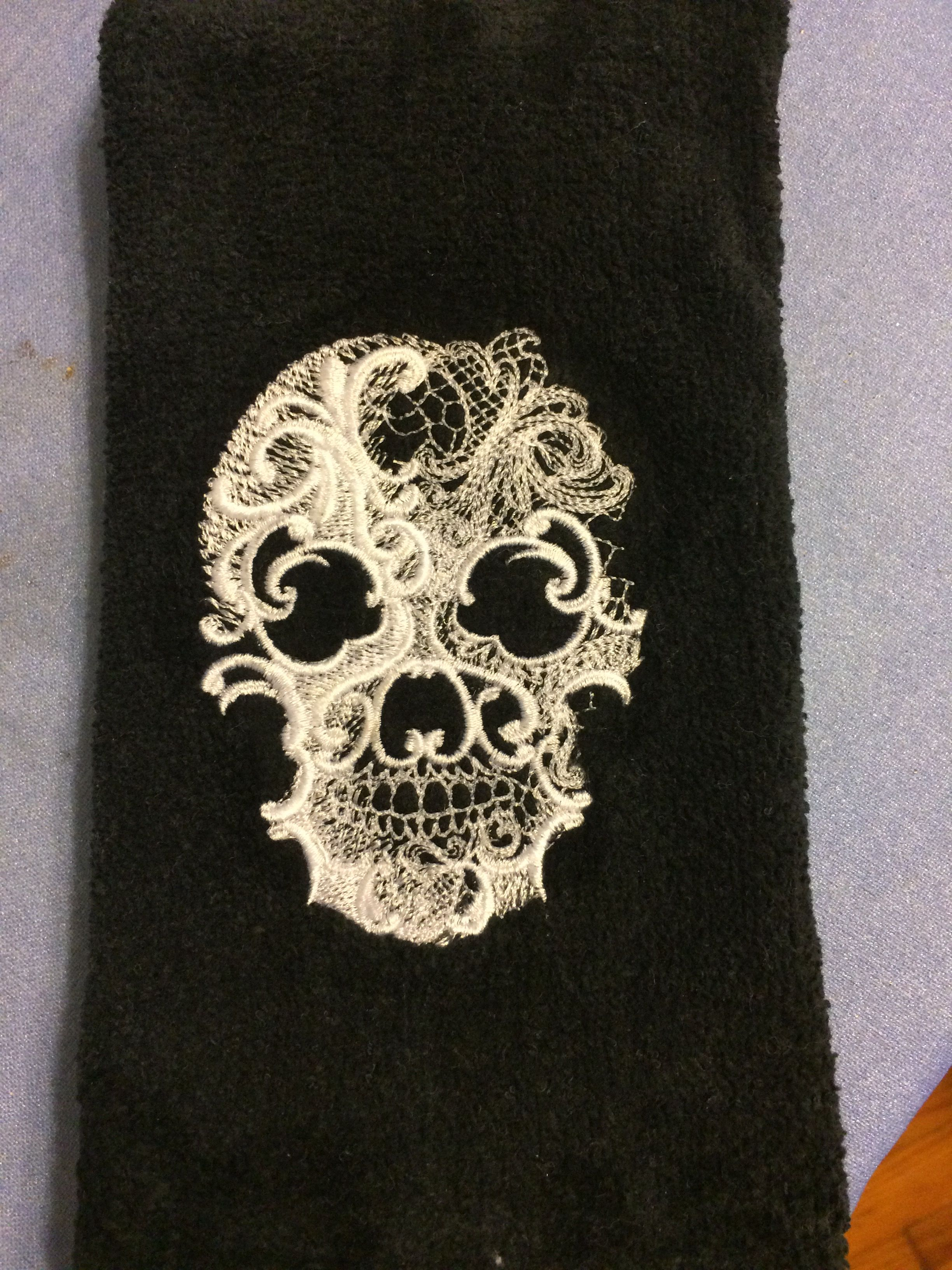 Halloween Kitchen Towel, Machine Embroidered. Embroidery Design From Urban  Threads.