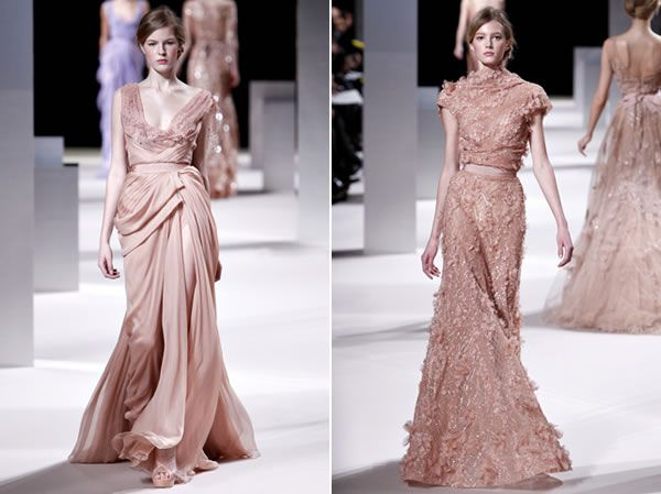 Style Elie Saab Spring 2017 Collection Dusty Rose Dress Mauve