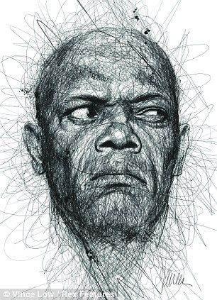 know who it is yet? Artist scribbles portraits of famous dyslexics to highlight condition Samuel L. Jackson scribble portrait is a pencil drawing although it looks as if there were three or fore different colours in but actually its the use of tone with the pencilSamuel L. Jackson scribble portrait is a pencil drawing although it looks ...