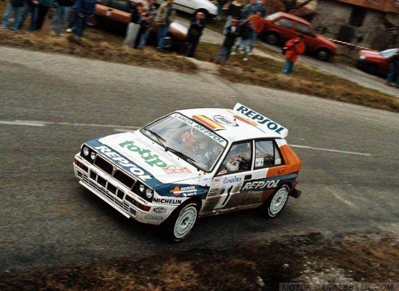 Carlos Sainz Rally car, Lancia delta, Rally