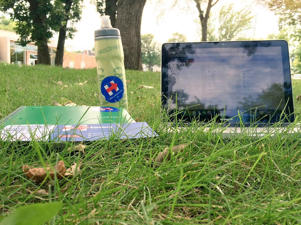 Oh ya know, just doing some grassroots organizing, you? #CallTime #FellowsIA