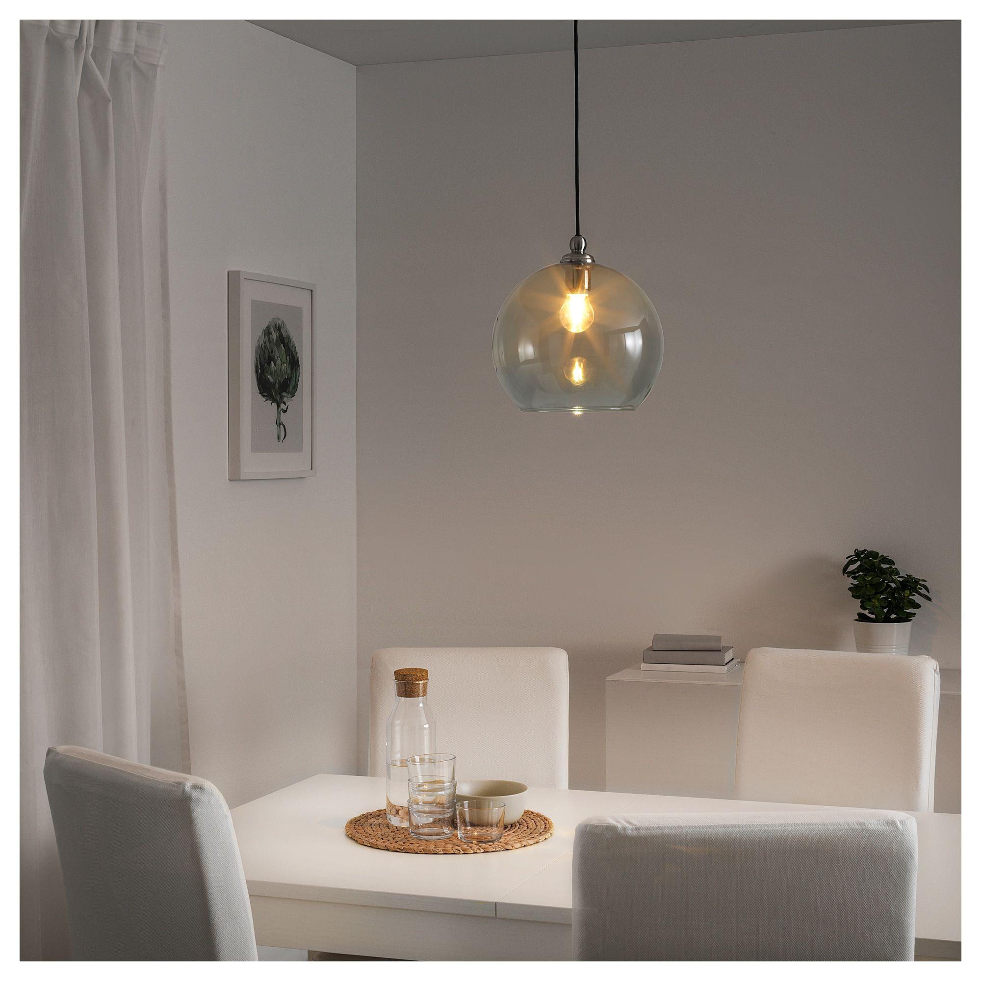 GOTHEM / JAKOBSBYN Pendant lamp - dark gray, smoked - IKEA  Ikea